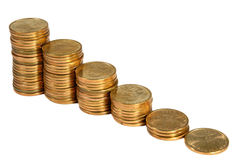 Dollar Ladder. Ladder made of dollar coins stock photography