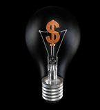 Dollar Lamp. A symbol. Energy is expensive Stock Photos
