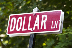 Dollar Lane Royalty Free Stock Images