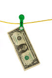 Dollar launder Stock Photography