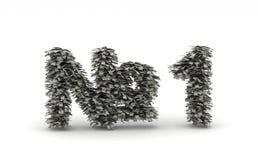 Dollar leafsbokstav N1 Arkivbild