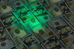 Dollar light spot Stock Image