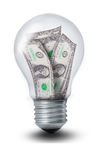 Dollar Lightbulb Royalty Free Stock Photos