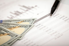 Dollar and Loan Plan Royalty Free Stock Images