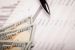 Dollar and Loan Plan Stock Photo