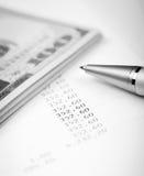 Dollar and Loan Plan Royalty Free Stock Image