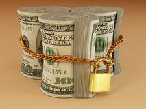 Dollar on lock Royalty Free Stock Image
