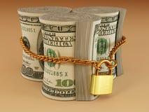 Dollar on lock Royalty Free Stock Image