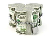 Dollar on lock Stock Photography