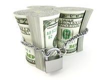 Dollar on lock Stock Images