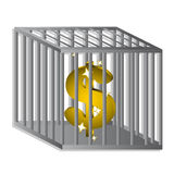 Dollar locked Royalty Free Stock Image