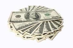 Dollar lokalisiert auf weißem Hintergrund Lizenzfreie Stockfotos