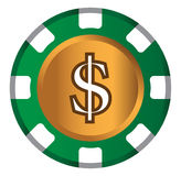 Dollar-Münzen-Thema-Design für Kasino-Konzept Lizenzfreie Stockfotografie