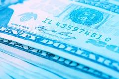 Dollar macro Royalty Free Stock Images