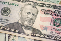 Dollar macro as background Royalty Free Stock Photography
