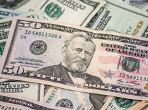 Dollar macro as background Stock Image