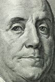 100 dollar macro. Franklin close up Royalty Free Stock Images