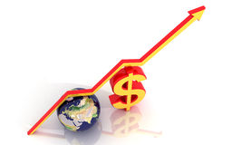 Dollar and magnet Royalty Free Stock Images