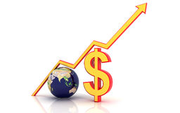 Dollar and magnet Stock Images