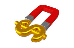 Dollar and magnet stock illustration