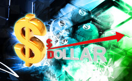 Dollar and magnet Royalty Free Stock Photography
