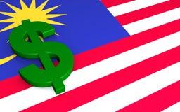 Dollar in Malaysia  royalty free stock image