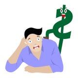 Dollar and man Royalty Free Stock Image