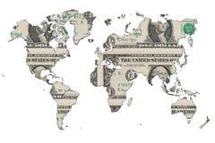 Dollar MAP Royalty Free Stock Photos