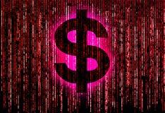 Dollar in matrix Stock Images