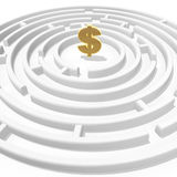 Dollar maze Royalty Free Stock Photo