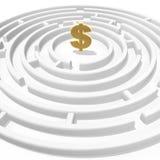 Dollar maze royalty free stock photo