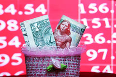 Dollar med egyptiska pengar Arkivfoto