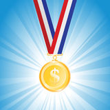 Dollar Medal Stock Image