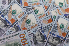 Dollar merkt Hintergrund einschließlich die neuen Blue Noten stockfotos