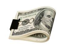 Dollar met klem Stock Fotografie