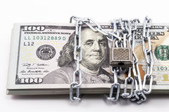 Dollar with metal chain Stock Images