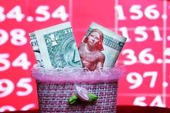 Dollar mit ägyptischem Geld Stockfoto