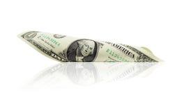 Dollar mit 1 Amerikanern Lizenzfreie Stockfotos