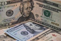 Dollar mit 20 Amerikanern Lizenzfreie Stockbilder