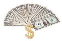 Dollar mit Dollarzeichen. Lizenzfreie Stockfotografie