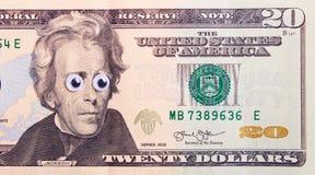 Dollar mit großen Augen Lizenzfreies Stockfoto
