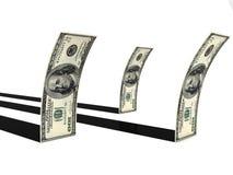 Dollar mit Streifen Lizenzfreie Stockfotos
