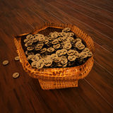 Dollar money in a bag. 3d rendering Royalty Free Stock Photo