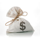 Dollar Money Bag Royalty Free Stock Photography