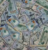 Dollar money banknotes texture background Royalty Free Stock Photo
