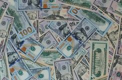 Dollar money banknotes texture background Stock Image