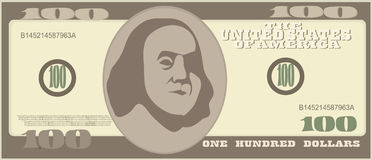 100 dollar. Money bill icons. Detailed currency banknotes. Vector Stock Photo