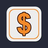 Dollar money currency. Icon vector illustration graphic design Stock Photos