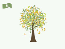 Dollar money currency tree vector Stock Photo