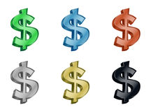 Dollar money 3D icon Stock Photography